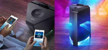 Samsung Giga Party Audio, Alat Speaker Portable Anti Air untuk Outdoor Maupun Indoor